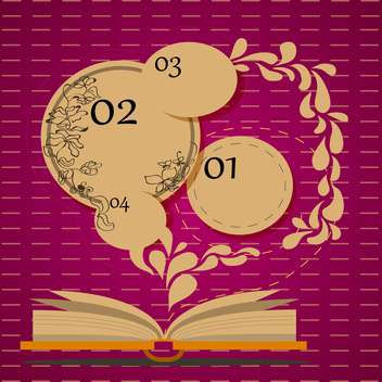 open book with info bubbles in education concept - vector gratuit #131885