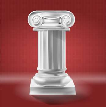 Ancient Column standing in red room - Kostenloses vector #131905