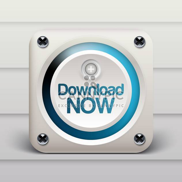Download now white computer button icon - Free vector #132045