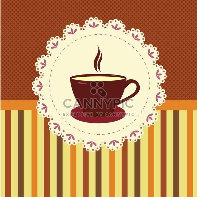 Vektor-Illustration von Teetasse auf gestreiftem Hintergrund - Free vector #132075