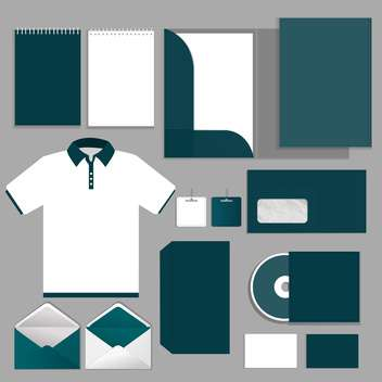 Vector Illustration of selected corporate templates - бесплатный vector #132115