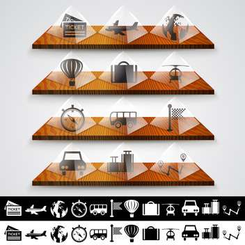 Travel icons set, vector illustration - vector gratuit #132175
