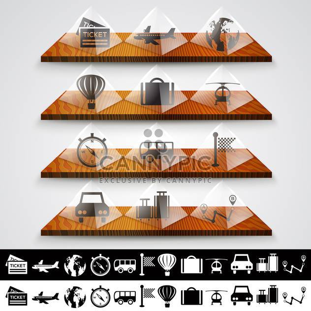 Travel icons set, vector illustration - Free vector #132175