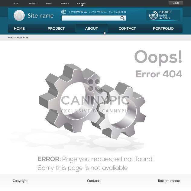 abstrakt-Vektor-Webseite-Fehler 404 - Free vector #132185