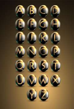 Golden shiny letters on brown background - vector gratuit(e) #132245