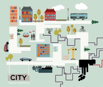 City vector background, infographic vector illustration - Free vector #132415