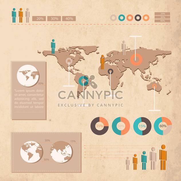Grunge Geschäft Infographik Elemente auf der Karte - Kostenloses vector #132465