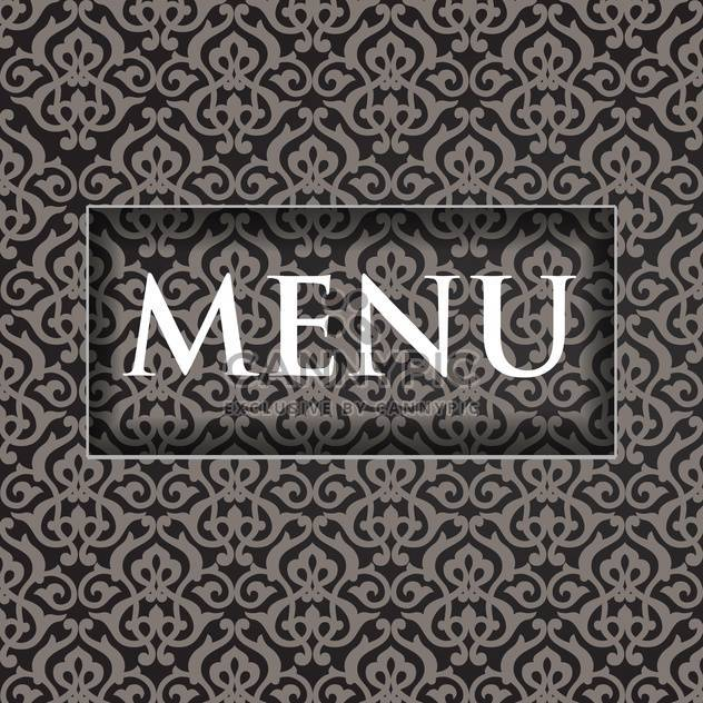 restaurant menu design background - Free vector #132525