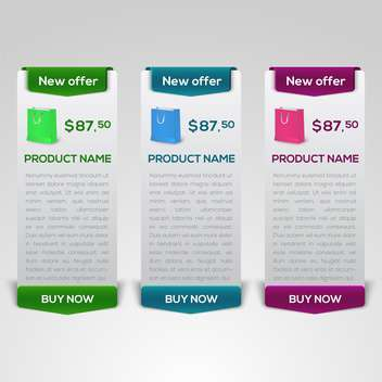 buy now and new offer button sets - vector gratuit #132565