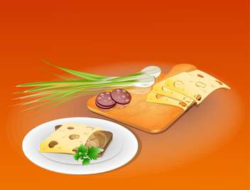 tasty sandwich with onion illustration - бесплатный vector #132645