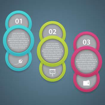 vector business progress icons steps - Free vector #132675