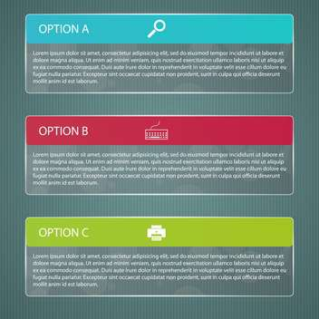 vector business progress design options - Free vector #132685