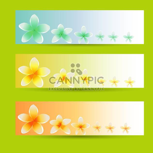floral vector background brochure floral templates - Free vector #132815
