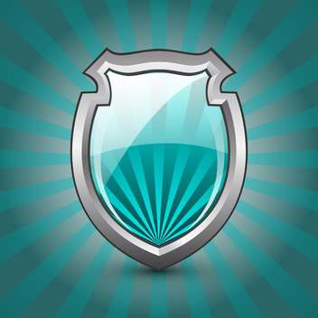 glossy shield protection icon - vector gratuit #132845