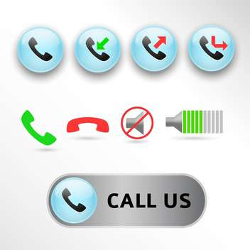 vector web call icons set - vector #132855 gratis