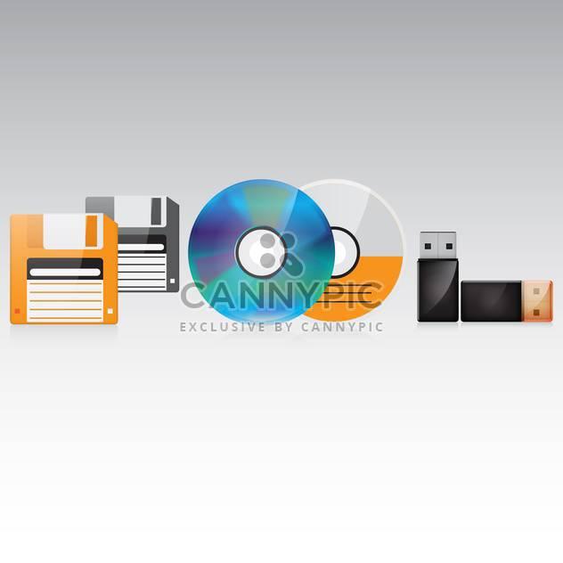 memory storage set illustration - Free vector #132925