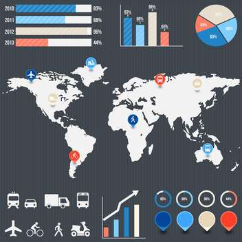 business infographic elements set - vector gratuit #132985