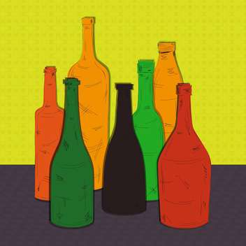 colorful bottles vector background illustration - Free vector #133035