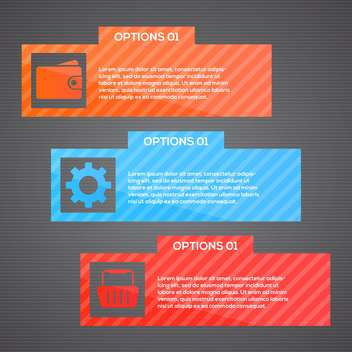 vector web template background - Kostenloses vector #133055