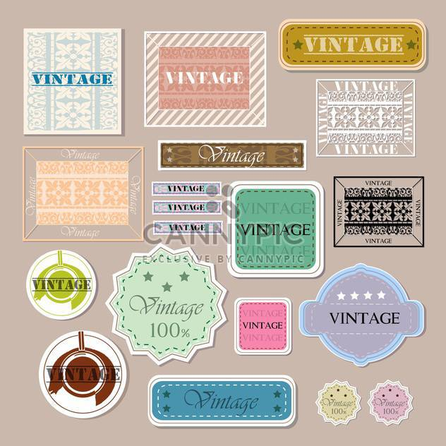 set of vector vintage labels - Free vector #133085