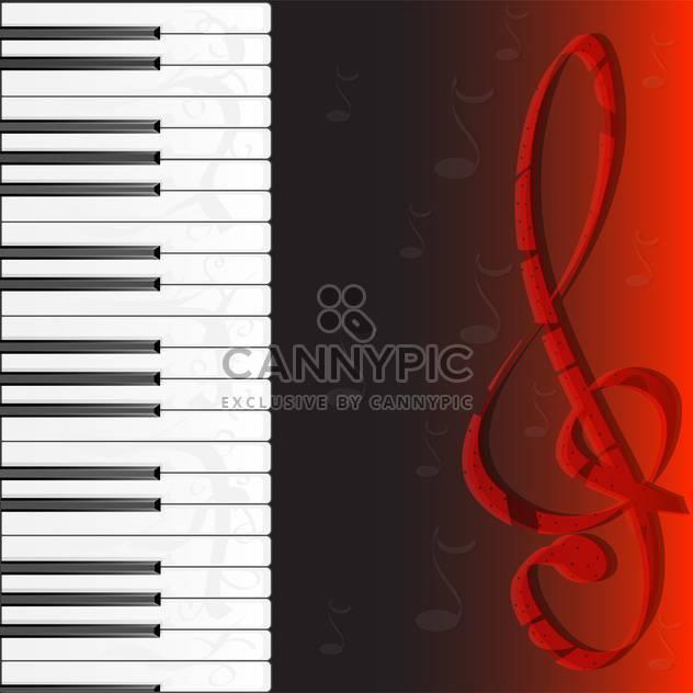 piano keybard and treble clef - Free vector #133105