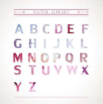 colorful alphabet letters set - vector #133135 gratis