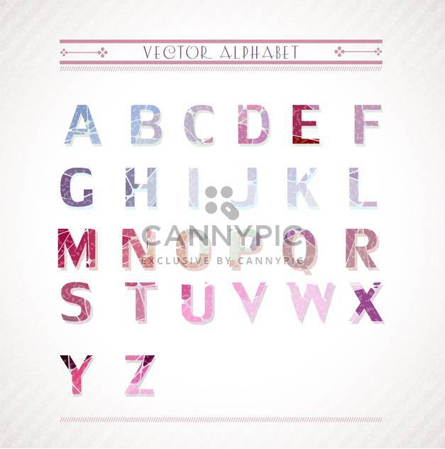 colorful alphabet letters set - Free vector #133135