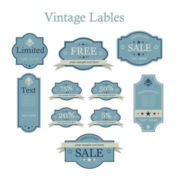vector set of vintage labels - vector #133145 gratis