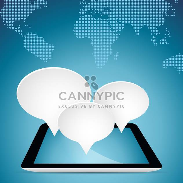 speech bubbles on tablet pc - Free vector #133165