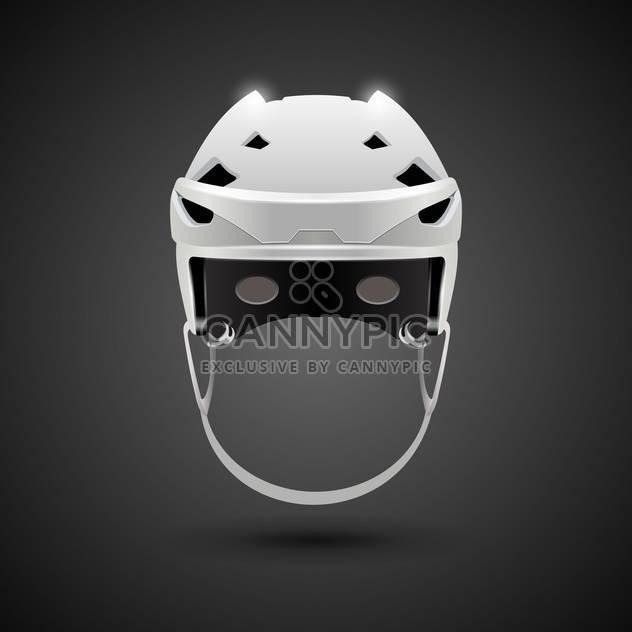 Eishockey Spiel Helm Abbildung - Free vector #133205
