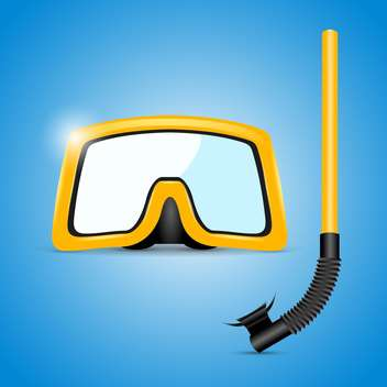 scuba mask and snorkel illustration - vector gratuit #133215