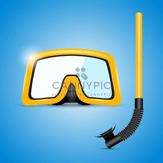 scuba mask and snorkel illustration - Free vector #133215