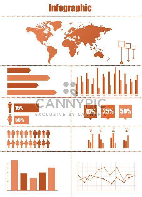 Geschäft Infographik Elemente Vektor Satz - Kostenloses vector #133245