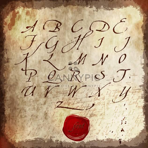 kalligrafische Schriften Alphabet Buchstaben - Kostenloses vector #133305