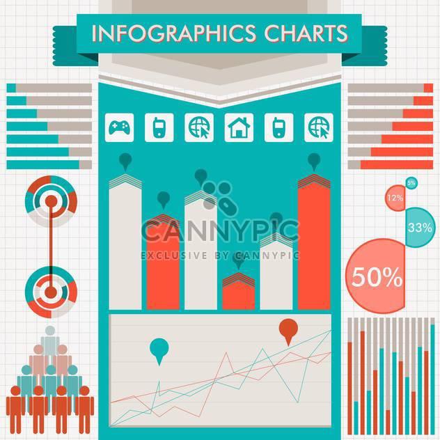 retro infographics vector set - Free vector #133315