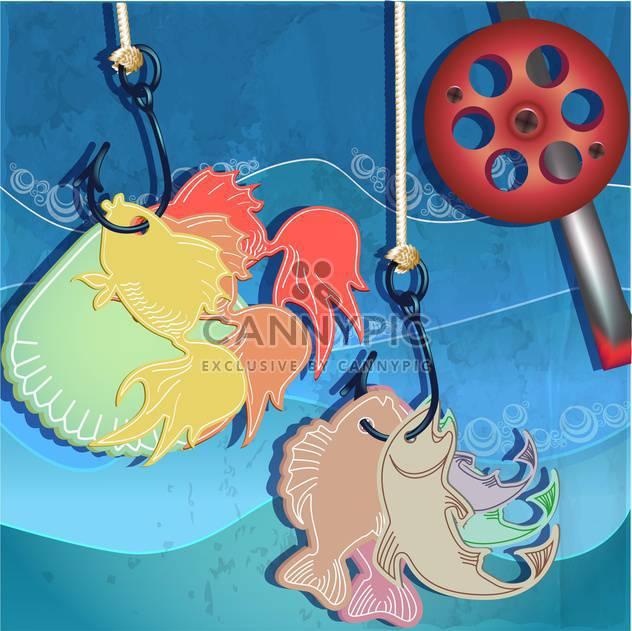 Angeln im Meer-Wasser-Hintergrund - Free vector #133335