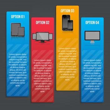 set of business process steps - vector gratuit #133345