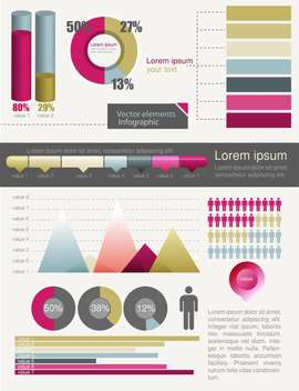 business infographics graphics set - Free vector #133405