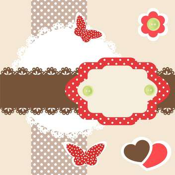 vector frame with flying butterflies - vector gratuit #133435