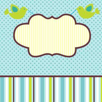 vector frame background with birds - Free vector #133455