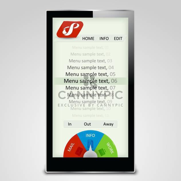 touchscreen multimedia menu background - Free vector #133475