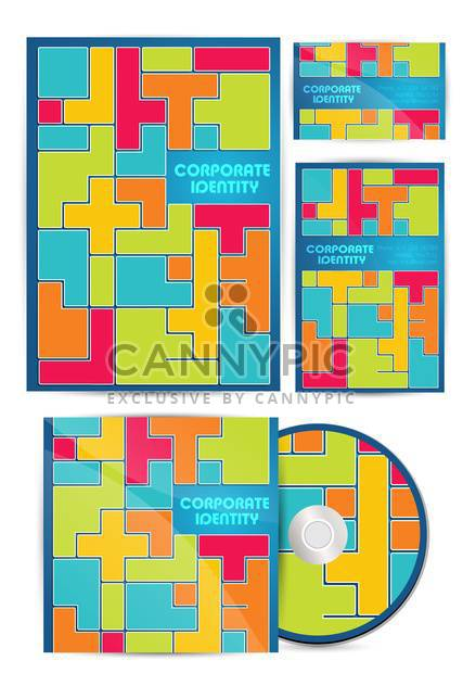 vector colorful corporate identity - Free vector #133495