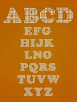 vector alphabet letters set background - Free vector #133505