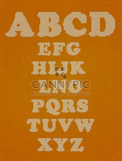 Vektor Alphabet Buchstaben Set Hintergrund - Kostenloses vector #133505