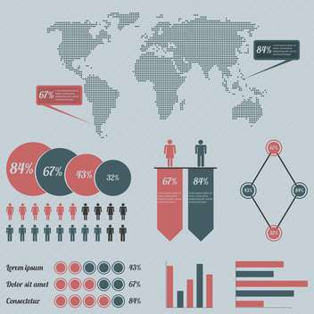 business population infographics set background - Free vector #133525