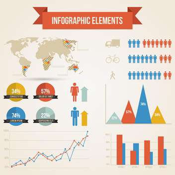 business population infographics set background - vector gratuit(e) #133545