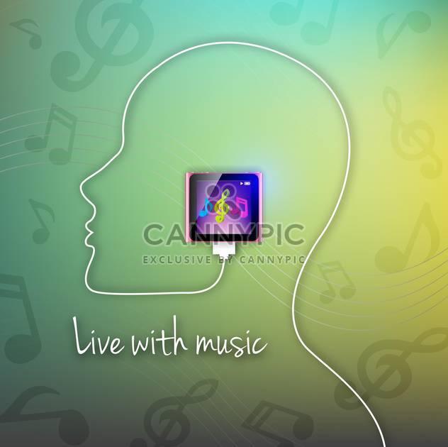 Vektor mit Hintergrund Musik live - Free vector #133555