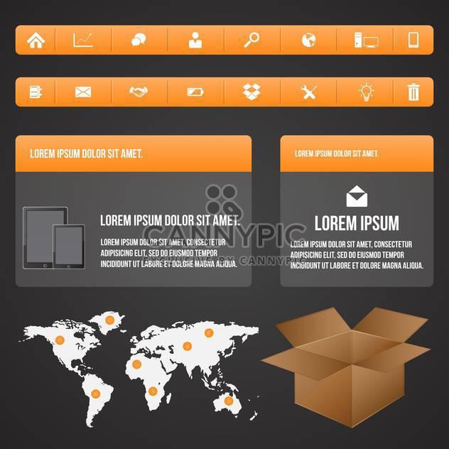 Elemente der Geschäft Infographik Menge - Kostenloses vector #133585