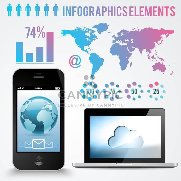 Elemente der betriebswirtschaftlichen Infographik Hintergrund festlegen - Free vector #133605