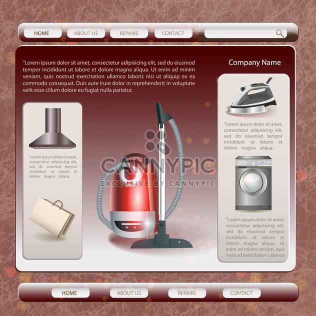 Satz von Unternehmen elektronische Produkte - Free vector #133615